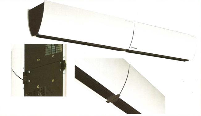 Регулировка направления потока воздуха завес Portier производится поворотом жалюзи