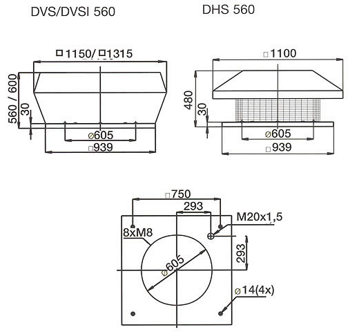 Systemair - DVS/DHS/DVSI 560