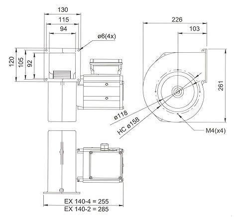 Systemair - EX 140 (трехфазный)